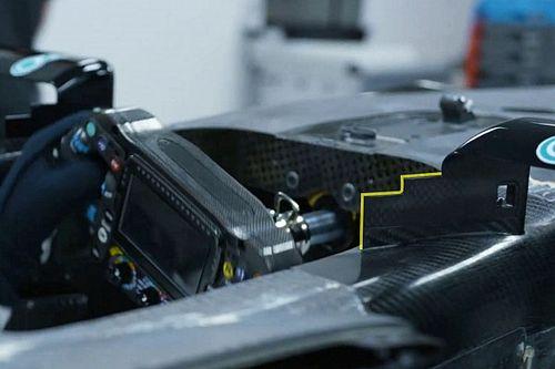 دعامة المرآة المسنّنة قد تكون أحدث مصادر مكاسب مرسيدس في الفورمولا واحد
