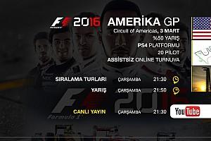 FORMULA 1 LİGİ Son dakika F1 2016 online turnuva: Amerika GP - Canlı Yayın