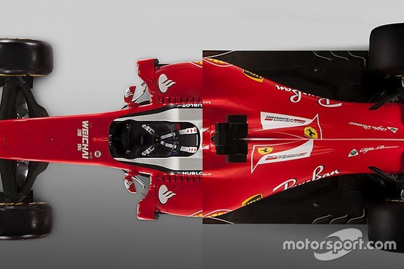 Ф1 2017: боліди Ferrari SF16-H та SF70H у порівнянні
