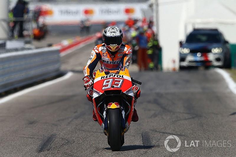 Márquez se irrita com Iannone após toque em Misano