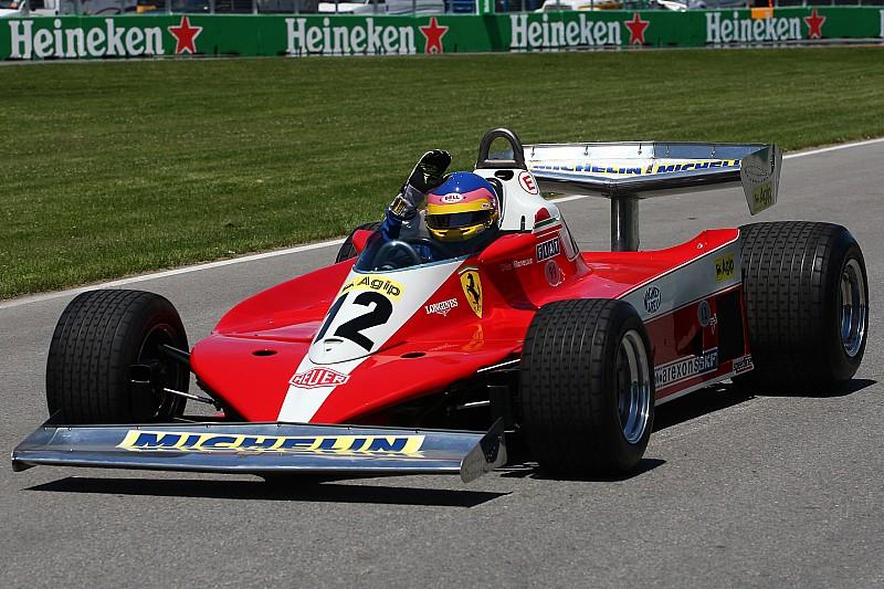 Fotogallery: Jacques Villeneuve celebra papà Gilles a Montreal sulla Ferrari 312 T3