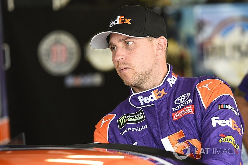 Denny Hamlin rockets to top of first Cup practice at Martinsville