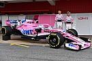 ピンクのカラーリングを継続。フォースインディア新車公開