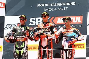 World Superbike Race report Imola WSBK: Davies wins race shortened by big Laverty crash