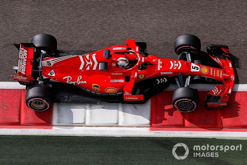 Vettel tops first day of testing, trouble for Raikkonen