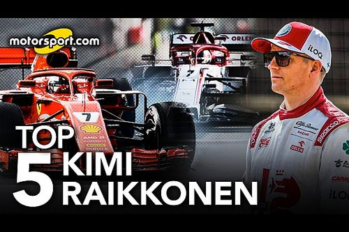 "TOP 5 Raikkonen: Dal Mondiale 2007 al ""Bwoah"" leggendario"