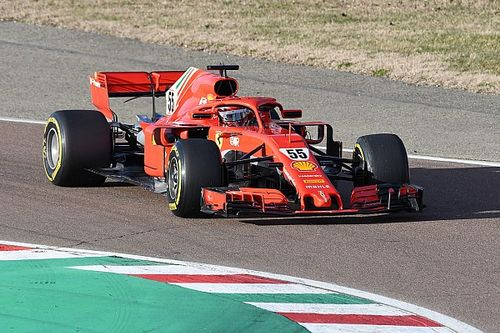 Sainz makes maiden Ferrari appearance in Fiorano test