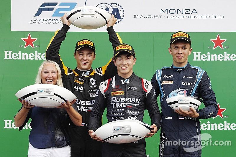 Monza F2: Makino 14. sıradan sürpriz bir zafer kazandı