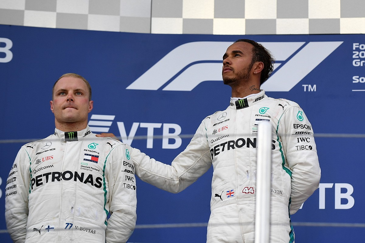 Bottas abre passagem e Hamilton leva GP da Rússia