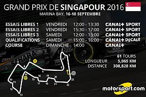Formule 1 Actualités Le programme TV du Grand Prix de Singapour