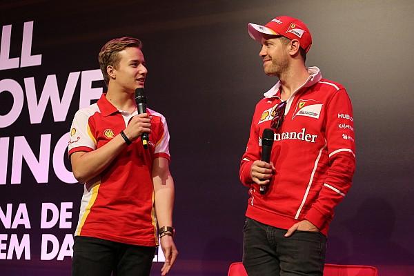 Vettel exalta potencial de jovem kartista brasileiro