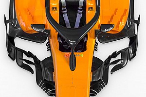 Slide view: McLaren's 2018 F1 car v 2017 version