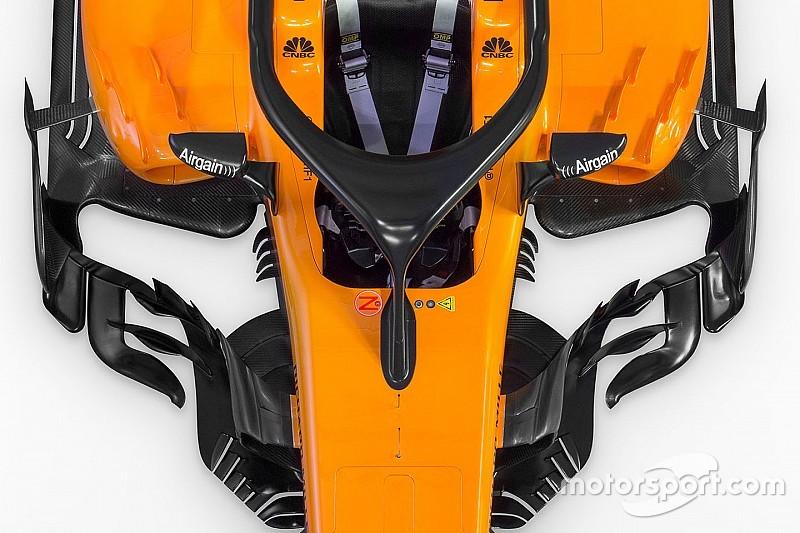 Slide view: McLaren's 2018 F1 car v 2017 version