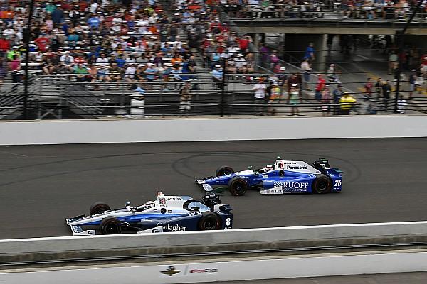 IndyCar Chilton est passé à six tours de la victoire à Indy