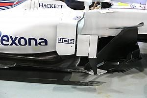 Williams: i deviatori di flusso sono in tre elementi come sulla Mercedes