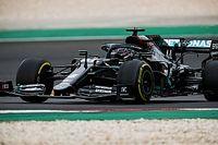 Hamilton se emociona após 92ª vitória e relata cãibras durante GP de Portugal