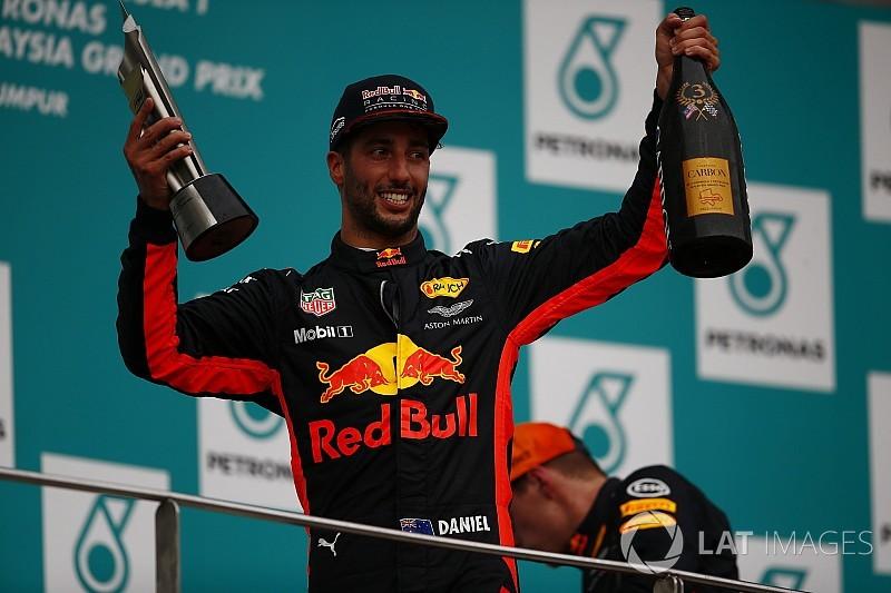 """Red Bull se diz """"preparada"""" para saída de Ricciardo em 2019"""