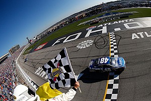 NASCAR Cup Race report Johnson takes Atlanta victory, matching Dale Earnhardt's win record