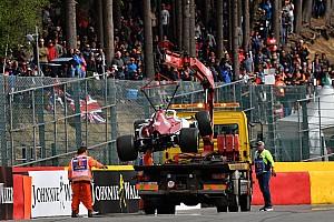 Реконструкция стартовой аварии на Гран При Бельгии: видео