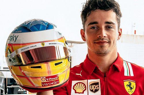 Fotos: regreso al pasado de Leclerc en su casco para Francia