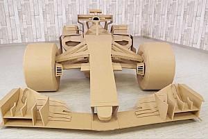Vídeo: construye un monoplaza de F1... de cartón