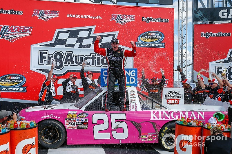 Timothy Peters wins crash-filled Truck race at Talladega