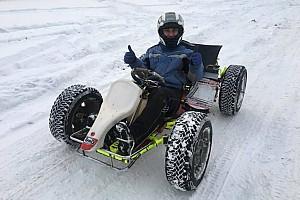 Зима картингіста: сніг не став перешкодою для перегонів