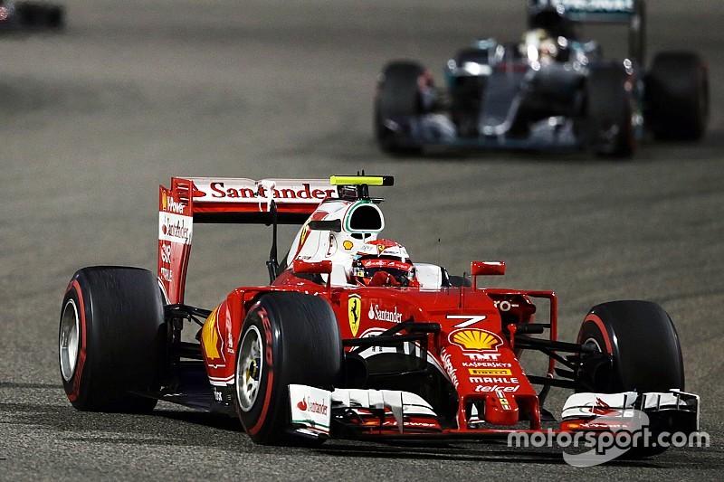 Kimi Raikkonen on the Sakhir podium
