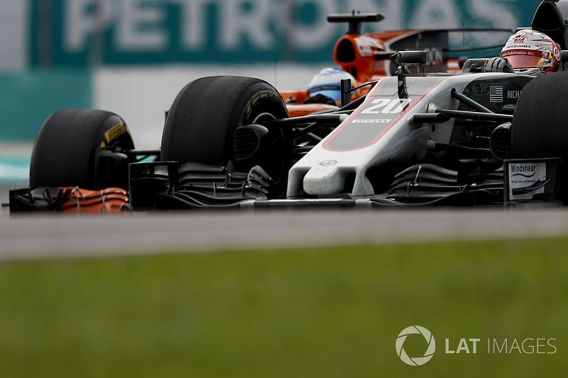 """Haas : Magnussen """"se forge une réputation"""" en étant agressif"""