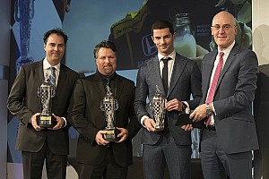 IndyCar Interview Indy 500 winners Rossi, Andretti, Herta receive 'Baby Borg' trophies