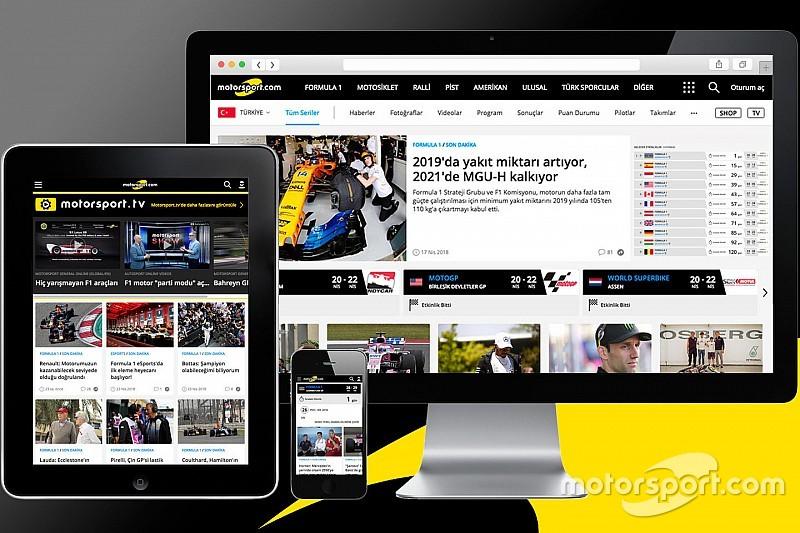 Motorsport.com daha kullanışlı ve hızlı tasarıma geçiyor