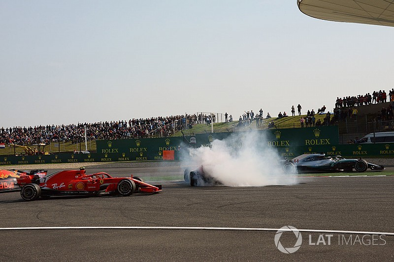 Hamilton feared he would crash into Vettel/Verstappen