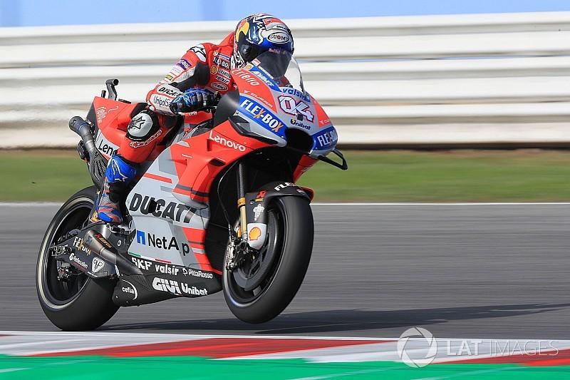 Dovizioso lideró un 1-2 de Ducati en la segunda práctica de Misano