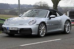 New Porsche 911 Cabrio caught with almost no disguise