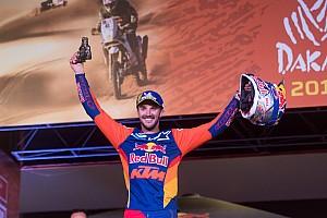 Por qué Sunderland entró en el podio del Dakar a última hora