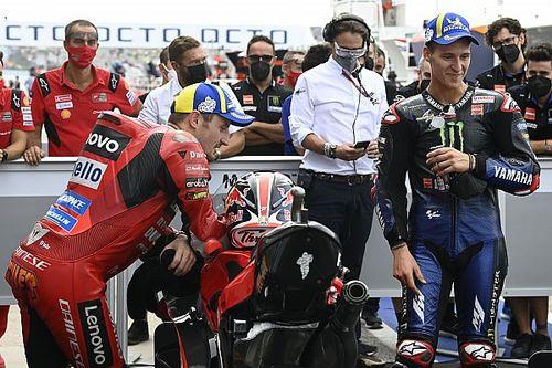 Quartararo: Rodeado por las Ducati debo tomar mis consideraciones
