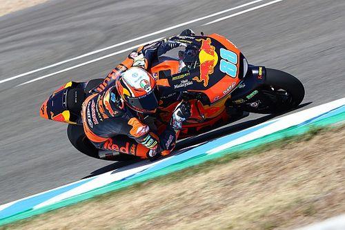 Festejo de Marini en Jerez con Moto2