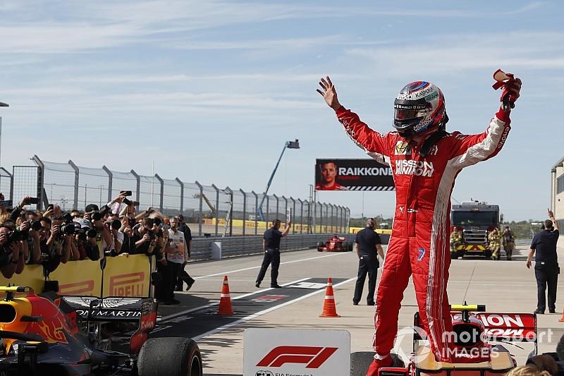 Räikkönen nyerte az Amerikai Nagydíjat, Hamilton még nem bajnok, Vettel megint ütközött