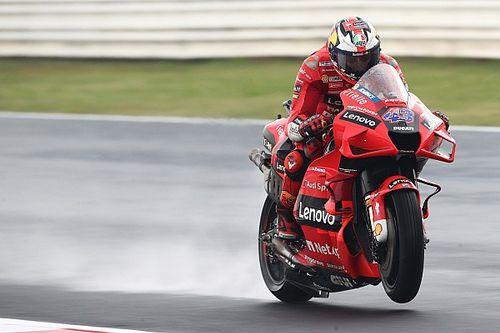 Miller lidera una segunda práctica en Misano pasada por lluvia