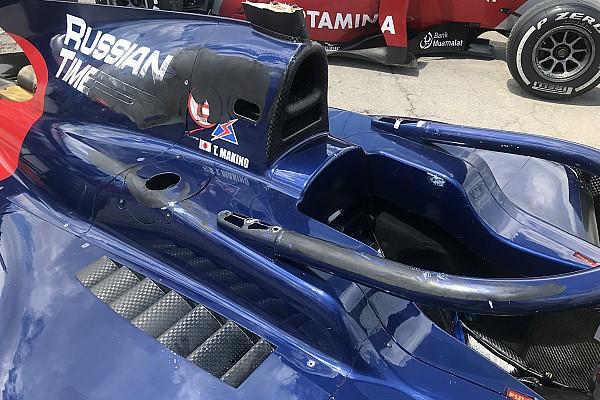 FIA F2 Breaking news Makino believes halo saved his life in F2 crash