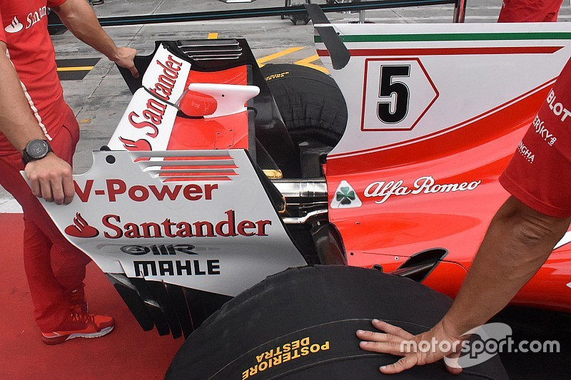 GALERÍA TÉCNICA: las mejoras en los coches de F1 en Monza