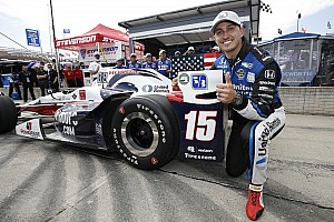 IndyCar Qualifying report Detroit IndyCar: Rahal scores pole, Castroneves penalized