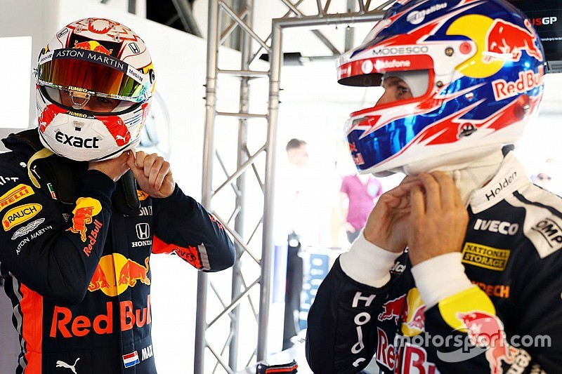 Verstappen rides with Supercars champ Whincup