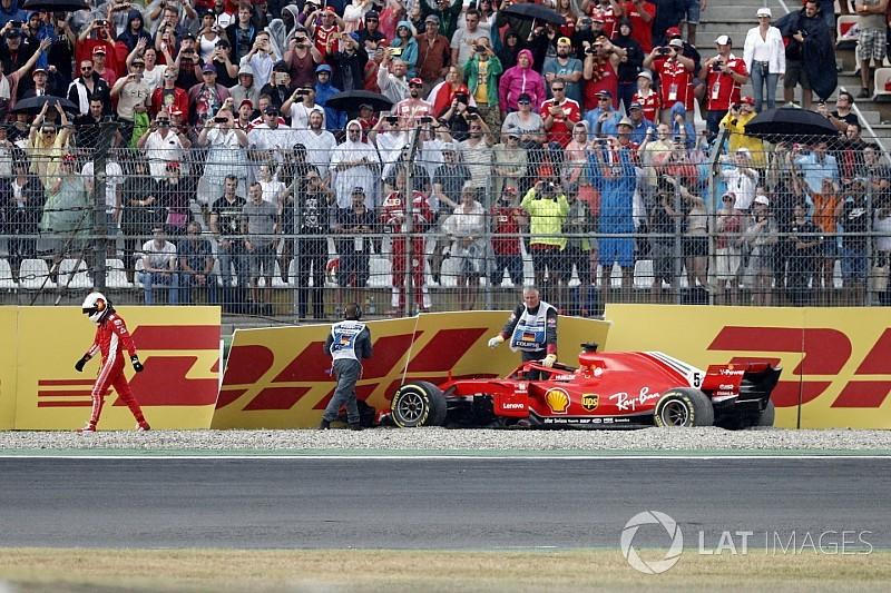Vettel: Kaza nedeniyle bu gece uykum kaçmayacak