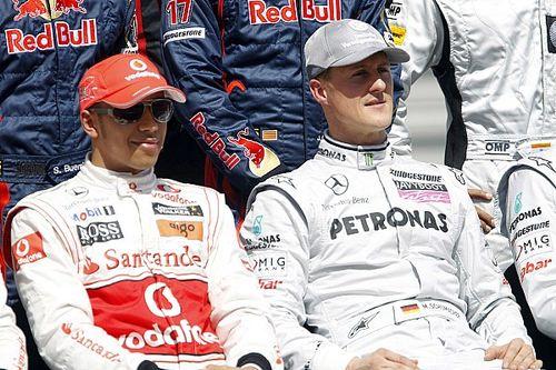 Hamilton à 2000 Km de Schumacher, pour devenir une légende à son tour