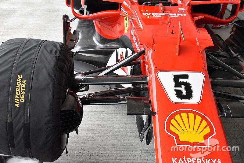 Ferrari: anche Vettel è tornato alla sospensione anteriore vecchia