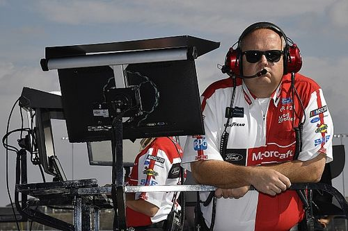 Jeremy Bullins gives thanks to Wood Brothers before moving to Penske