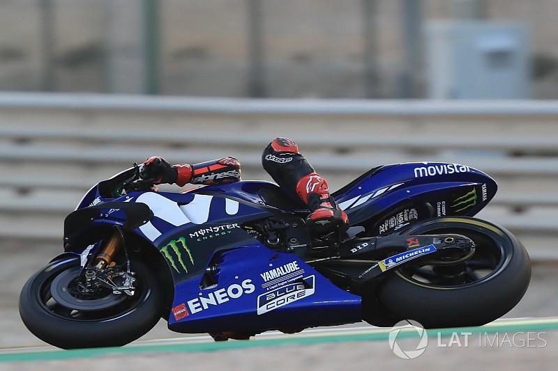 Viñales vê Yamaha mais constante no Catar; Rossi é cético