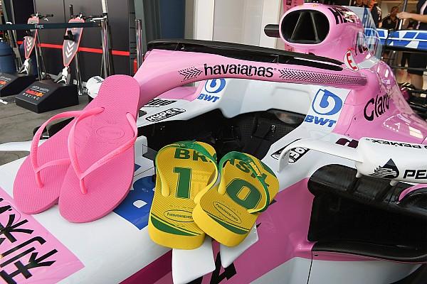 Halo Force India disponsori sandal jepit Havaianas