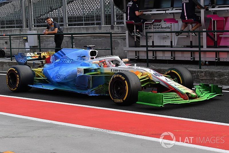 Galería: la parafina, protagonista del test de Hungría de F1